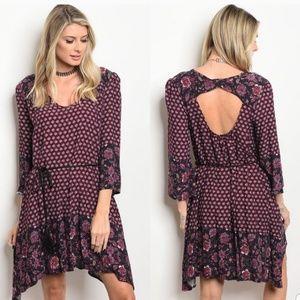 1 (S) Left - Multi-Print Shift Dress